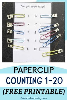 Looking for a fun educational activity for your toddler? Look no further! Can't find one? Worry no more! Check out the blog for more details on this Paperclip Counting Activity 1-20! It's also a free printable! Especially good for improving your toddler's fine motor skills, this counts both as a busy bag and a multi-purpose activity! This DIY activity can help improve your child's logic as well! Super easy to prepare and all the greater for learning how to count, it's already calling your name!