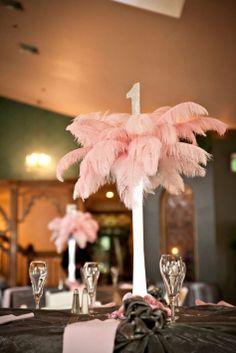 Ostrich Feather Centerpieces $460