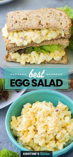 This easy egg salad recipe makes the best healthy egg salad! It starts with perfectly hard boiled eggs and a simple creamy dressing. Make a classic egg salad sandwich, or serve on toast with avocado, or in lettuce wraps for a light meal. #eggsalad #eggs Healthy Egg Salad, Easy Egg Salad, Egg Salad Sandwiches, Delicious Sandwiches, Lunch Recipes, Salad Recipes, Breakfast Recipes, Light Recipes, Easy Recipes