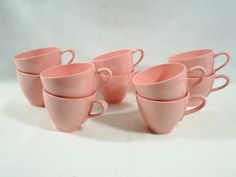 """Each cup is 2 3/4"""" tall and measures 3 1/4"""" across. One cup has a chip on the bottom.   eBay!"""