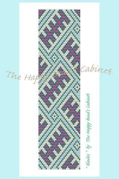 """Loom beading bracelet pattern or peyote bracelet pattern, """"Blades"""" - INSTANT DOWNLOAD PDF , bracelet, cuff, jewelry,"""