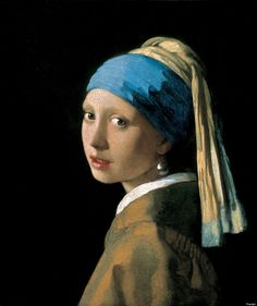 "Johannes Vermeer's ""Girl with a Pearl Earring"" 1665) - ""Certainly the way Vermeer captured subtle changes of light and focus seems to anticipate photography: some features appear in focus, while others seem out of focus, and objects are depicted with a foreshortening that resembles that seen in photographs -- this is perhaps one reason why he appeals to us today."""