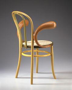 """Thonet    Garry Knox Bennett  2004  34 1/2"""" x 25"""" x 17""""  Chair, fiberglass, Enamel paint, hand-caned seat"""
