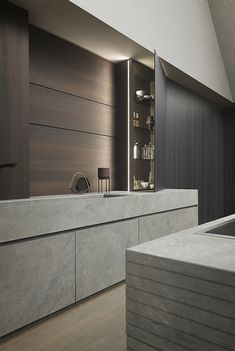 Our stone kitchen furniture is the apex of Modulnova projects: through research and the use of new technologies we have been able to transform Kitchen Colors, Kitchen Design, Stone Kitchen, Beautiful Kitchens, Kitchen Furniture, Living Room Designs, Bedroom Decor, Interior Design, Decoration