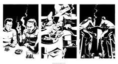 Ink Narratives: bar talk with cigs and whiskey by Pencil Illustration, Comic Artist, Illustrators, Whiskey, Novels, Ink, Comics, Drawings, Artwork