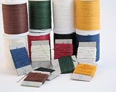 unwaxed, colored, linen thread from Büchertiger's Supplies