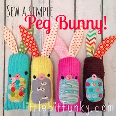 Little Bit Funky: 20 minute crafter {how to sew a simple (peg) bunny}! Free Bunny Pattern and Tutorial!