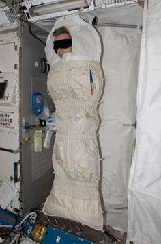 How astronauts sleep on the ISS - Imgur