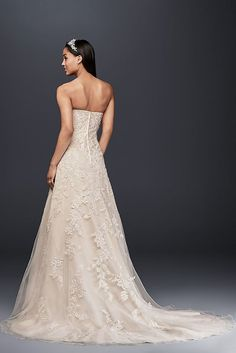 cf0fb5a4bf2 Sweetheart A-Line Tulle and Lace Wedding Dress Style V3587 at Amazon  Women s Clothing store