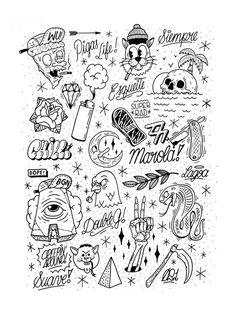 Diseños De Tattoos Basicos,Tradicionales