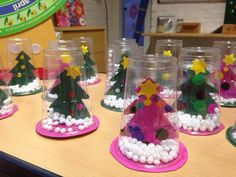 Snow globe cup ornaments to make for Christmas crafts and gifts! Kids Crafts, Christmas Crafts For Kids To Make, Toddler Crafts, Kids Christmas, Holiday Crafts, Christmas Gifts, Christmas Decorations, Christmas Ornaments, Kindergarten Christmas Crafts