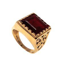 Square Gold Ring, Granite ring, Garnite Gold Ring, Gold Jewelry,Square Ring,Granite jewelry,Solid Gold jewelry,14k Gold Ring,solid gold ring