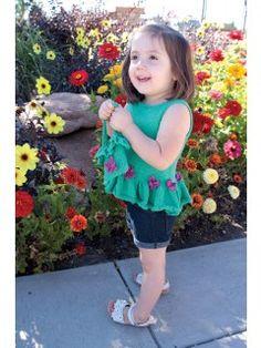 Petunia Peplum Dress Knitting Pattern; Sheryl Thies; Love of Knitting | InterweaveStore.com