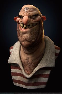 BY: Vincent-Dromart-pirate........Done with Zbrush.........Click on image to enlarge