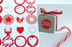 Christmas Sticky gift labels