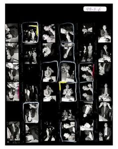 Magnum Contact Sheets & Bruce Gilden Print, Yakuza, Japan 1998 by Bruce Gilden. Giclée print and textile fiber. 50-piece edition. Numbered copy hand-stamped by the artist, $545.00