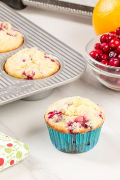 Cranberry orange muffins are just what you need to get you through the winter. They're bursting with flavor!