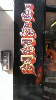 gold leaf lettering, Jazz Tattoo, Edinburgh, Scotland, www.artisanartworks.com