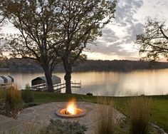 Not a room, but an amazing space.  I would never want to leave that fire pit and lakeside view...from Houzz.