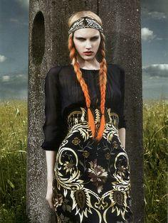 Orange ombré braids