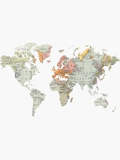 'Baesic Vintage World Map' Sticker by Baesic Clothing Co. Cute Wallpaper Backgrounds, Cute Wallpapers, Antique Maps, Vintage World Maps, Walpapers Iphone, World Map Sticker, Summer Captions, World Map Wallpaper, Map Background