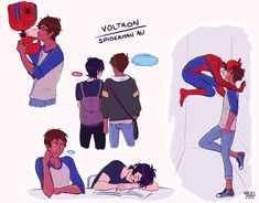 The whole spider man AU thing is so freakin awesome|kiwi