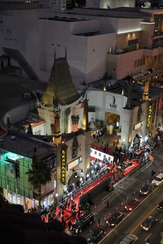 I kind of feel like this could easily have Batman off to the side looking from above lol  Grauman's Chinese Theatre, Hollywood, California