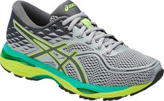 7a964d4b96 Asics Gel-Cumulus 19 Running Shoe - Mid Grey/Carbon/Safety Yellow 10.5