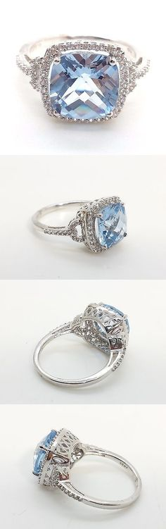 Other Fine Rings 177030: Designer Fine Cushion Cut Blue Topaz Sterling Silver 925 Ring 4G Sz.7 Bcx1 -> BUY IT NOW ONLY: $39.99 on eBay!