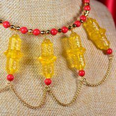 Asian-Inspired Gold Chain and Swarovski Crystal Choker