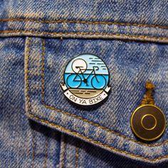 Bike enamel pin bicycle On Ya Bike pin riding a bike cycle