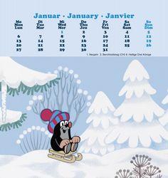 Der kleine Maulwurf Kalender 2014