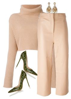 Untitled #1010 by styledbyhkc on Polyvore featuring polyvore fashion style Valentino Gianvito Rossi Oscar de la Renta clothing