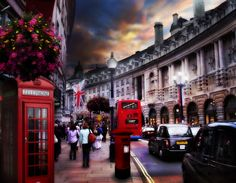 Go to Regent street, carnaby street, leicester square....I love walking in these streets.