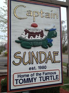"""Cool off after a hot day at Holland State Park! Captain Sundae has been the favorite """"go-to"""" place for Hollanders for many, many years! Known for their """"Tommy Turtle,"""" even President Bush made a visit to Holland and made a stop here on his way out of the city!!!"""