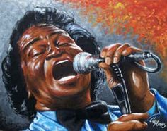 James Brown. Painting by Clevell Harris