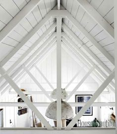 amazing planked ceiling!