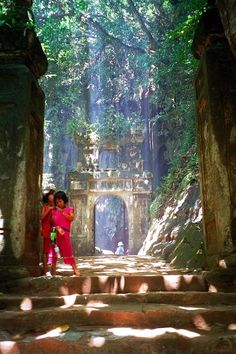 Lost Temple in Marble Mountains, Vietnam