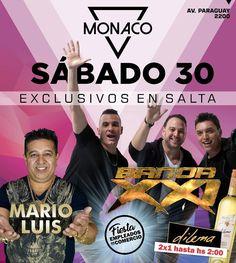 Sab 30 Sept Banda XXI - Mónaco Mega  #Salta #Argentina #QHS #Agenda #Evento #Prensa #Monaco #BandaXXI  #Music #Show #Travel #Party #Dance  #Love #Happy #Instagood #PhotoOfTheDay #Like4Like #Followme #Follow #Instalike #Instamoment #LikeForLike #TagsForLike #Family #Friends  #QueHacemosSalta #GobiernoDeSalta #SaltaTuCiudad #SaltaTanLindaQueEnamora Toda la info que necesitas la podes encontrar aquí  http://quehacemossalta.com/