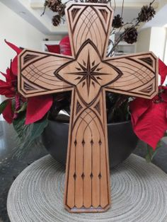 Gothic chip carved cross - by Roger Strautman @ LumberJocks.com ~ woodworking community