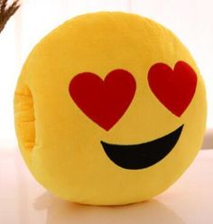 New Yellow Round Emoji Cushion Warm Hand Office Cushions Glove Pillows Cute Cartoon Face Plush Toy Creative Pillow travel