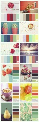 Planche de colorimétrie, différentes teintes et idée. #colorimétrie #couleur #palette - margauxduprat.com -