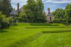 3950 Franklin Rd, Bloomfield Hills, MI 48302 is For Sale - Zillow | 8,540 sf | 5 bed 9 bath | 2.51 acres | French stone Manor, c.1930, designed by celebrated architect Wallace Frost | 8,750,000 USD