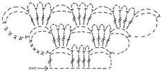 """DROPS Gehäkelter Schal in """"Alpaca"""" und """"Vivaldi"""" mit 2 gehäkelten Blumen und Seidenband. ~ DROPS Design"""