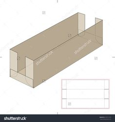 Long Shelf Tray Cardboard Box With Die Cut Template Stock Vector Illustration…