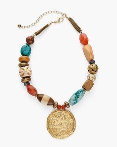 Jewelry - Show All - Chico's Diy Jewelry Necklace, Jewelry Show, Simple Necklace, Handmade Necklaces, Fashion Necklace, Pendant Jewelry, Beaded Bracelets, Pendant Necklace, Jewellery