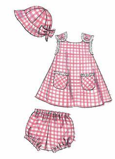 Cross-Back-Sommerkleid-Muster Kleinkinder-Sommerkleid-Muster – Kindermode Babykleidung Baby Girl Patterns, Summer Dress Patterns, Baby Girl Dress Patterns, Baby Clothes Patterns, Sewing Patterns Girls, Little Girl Dresses, Girls Dresses, Mccalls Patterns, Pattern Sewing