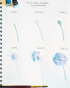 Sharing another little step by step for you today since you voted YES in my stories! Here's how to paint a dandelion the way I would.…