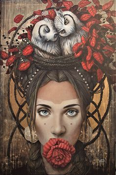 Sophie Wilkins is a Montreal-based artist, she has been dedicated to her art since Foto Fantasy, Fantasy Art, Photo Portrait, Portrait Art, Graphic Design Illustration, Illustration Art, Illustrations, Arte Indie, Magic Realism