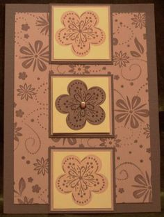 SC18 Beautiful Flower Trio by saffivort - Cards and Paper Crafts at Splitcoaststampers